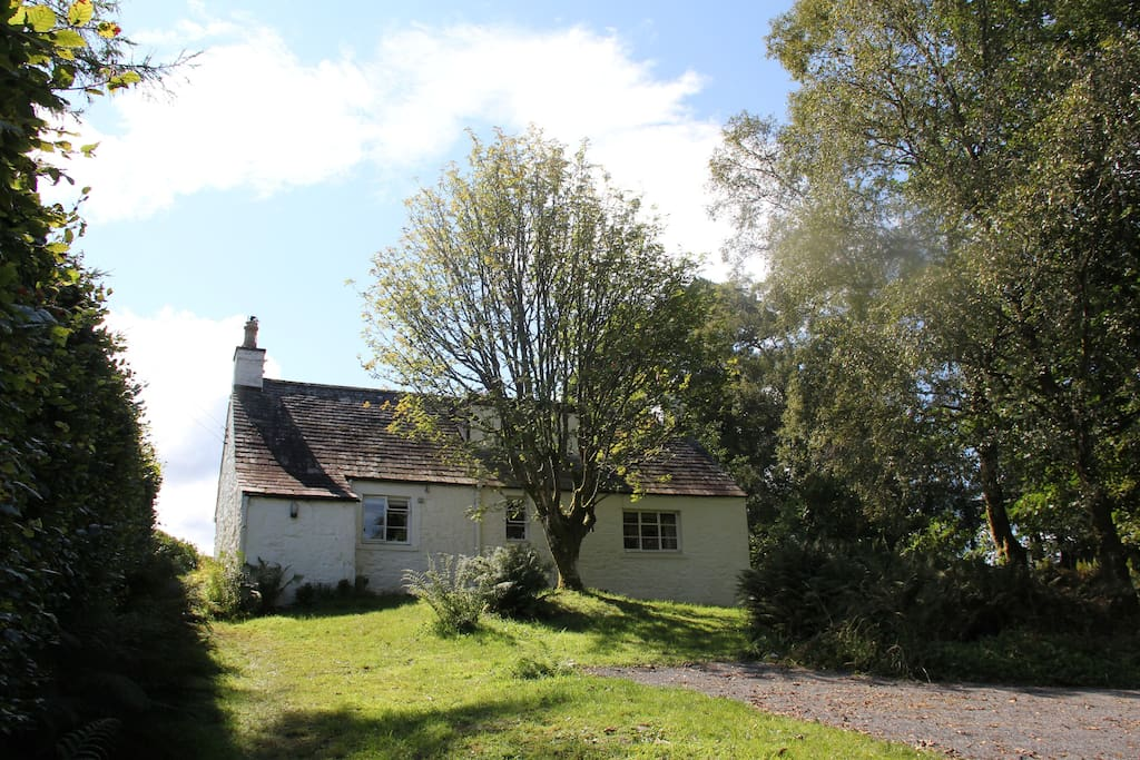 View of cottage from the drive