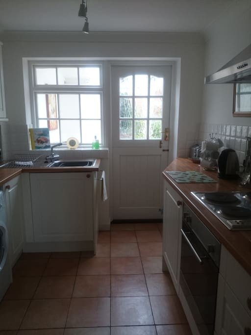 Kitchen through to Conservatory