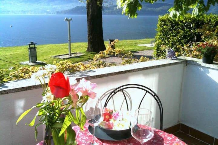 Ferienhaus mit Pool direkt am See