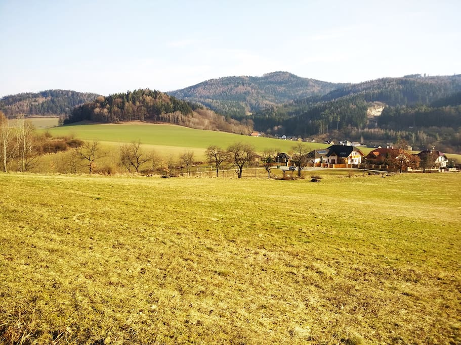 Meadows and forests in the vicinity are ideal for walks and bike rides. Enjoy the clean air and unspoiled nature of Jesenik Mountains.