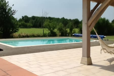 Spacious house w/ garden and pool - Monsempron-Libos - House