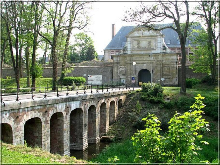L'entrée de la Citadelle Vauban.