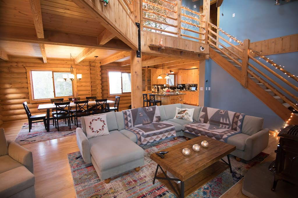 Gorgeous log home 10 mins from eldora skiing vacation for Nederland cabin rental