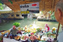 LAT  MA YOM  floating market. From my house by take a taxi 14 km.