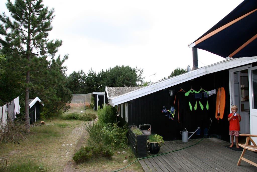 Terrace facing east