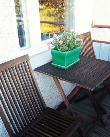 Balcony is great for relaxing or having a meal.