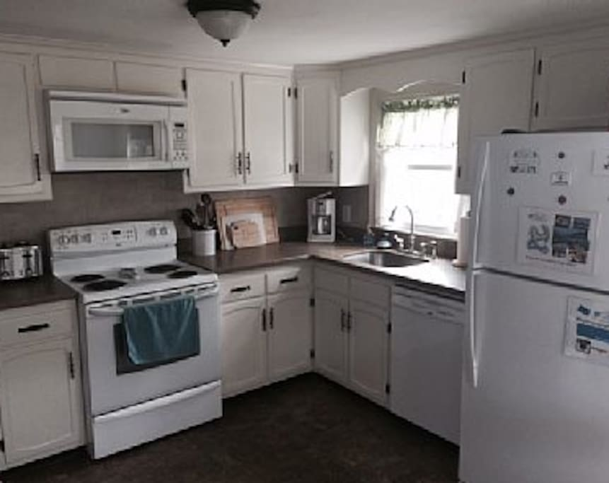 Our kitchen has everything you need for a perfect Cape Cod vacation.  We even have a lobster pot and claw crackers!