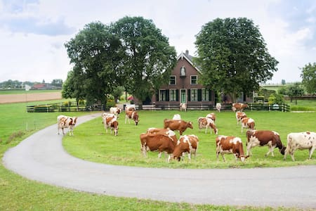 Luxury old farmhouse near Amsterdam 2bedrooms - Nieuwveen - Huoneisto
