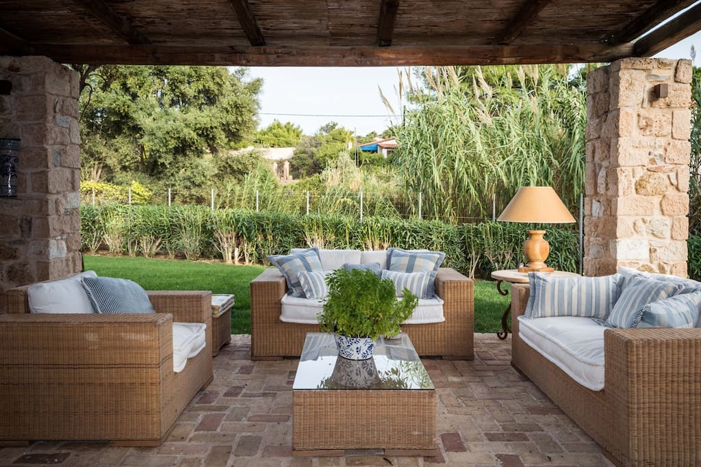 Enjoy our outside lounge on the spacious patio with cool breezes.