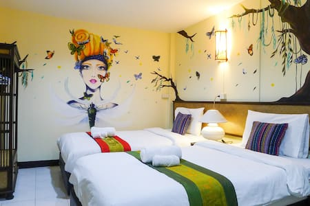 Dream Garden Villa(Twin Bed Room-5) - Amphoe Mueang Chiang Mai