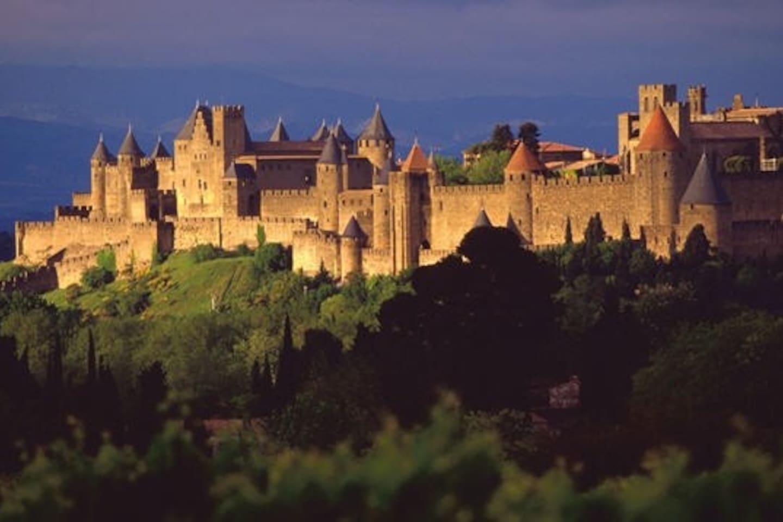 La Cité de Carcassonne, de 5 à 10 minutes à pied de l'appartement