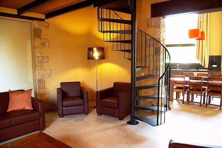 Apartamento 10-14pax L'ARCADA DE FARES - Sant Ferriol - 公寓