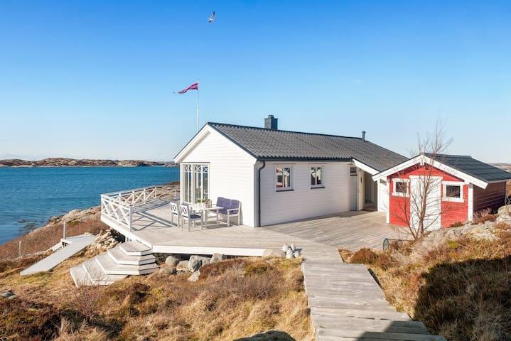 Privat ferieparadis like ved sjøkanten