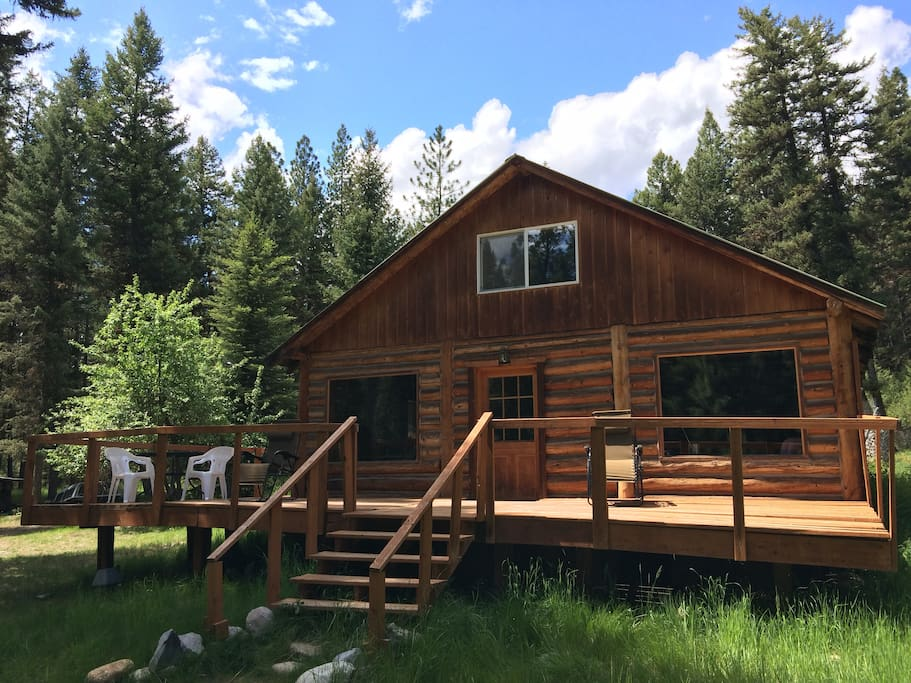 missoula montana cozy conifer log cabin on 10acres