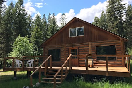 Missoula Montana Log Cabin 10 acres - Huson