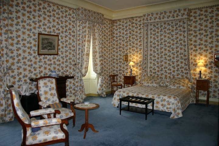 """Grande Chambre """"Bleuets"""" au Château - Oizon - Kastély"""