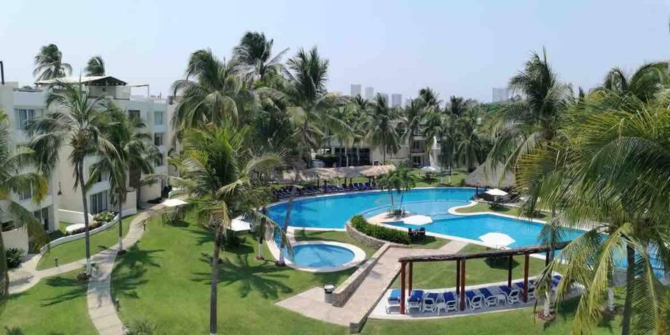 Acapulco Diamante 3 habitaciones 10 personas