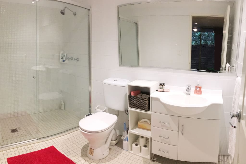 Guest bathroom with essentials included