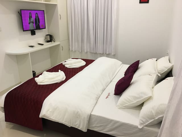 Rooms with modern amenities.