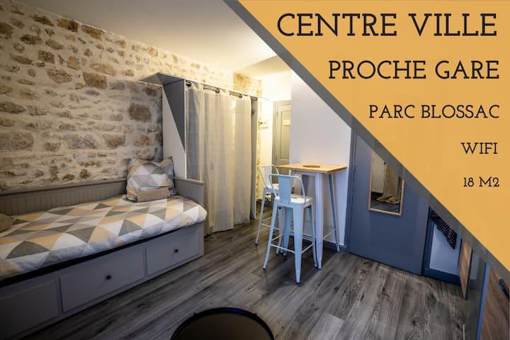 💕 CHARMANT Studio Parc Blossac + Gare + Centre 💕