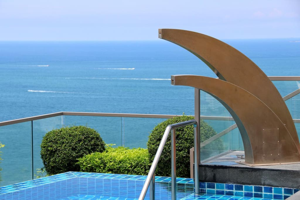 Swimming pool on the roof amazing sea view