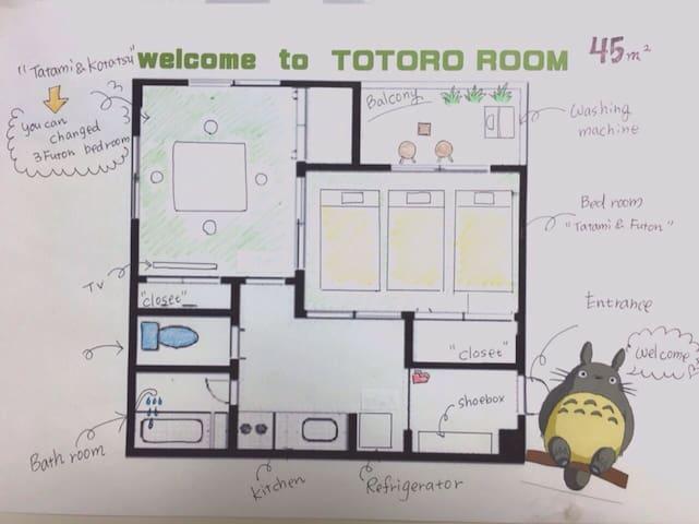 Big,ASAKUSA LIFE WithTOTORO SAKURA桜 - Taitō-ku - Wohnung