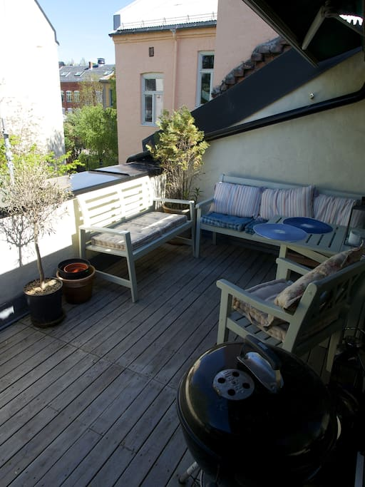 Spacious terrace with grill and out door