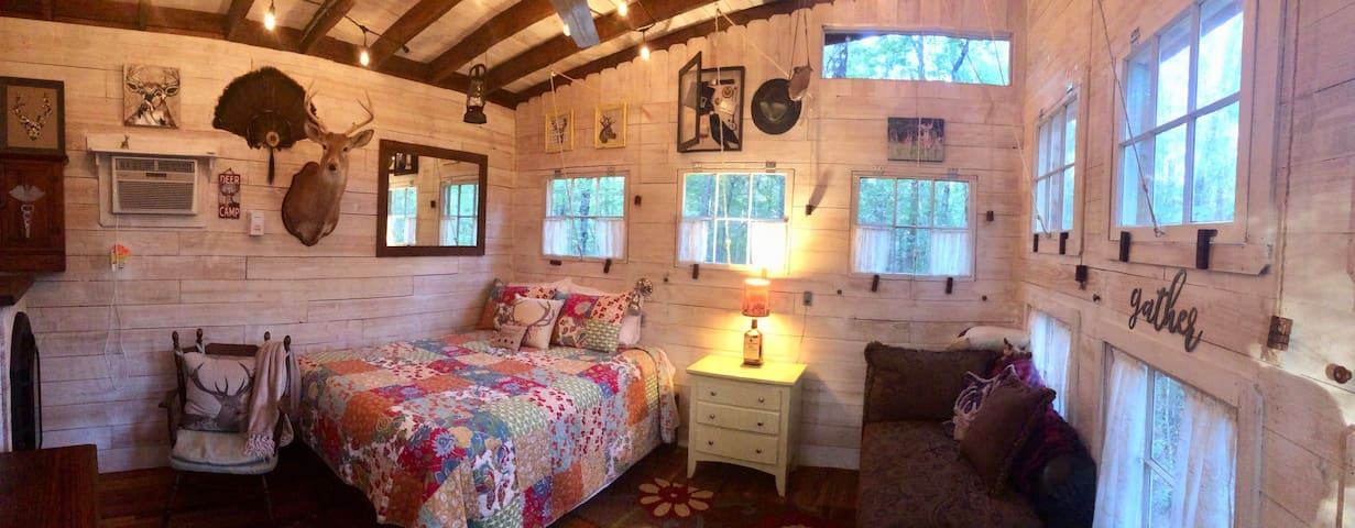 panoramic of the cabin interior