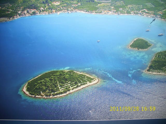 Aerial view of the Kenza Bay