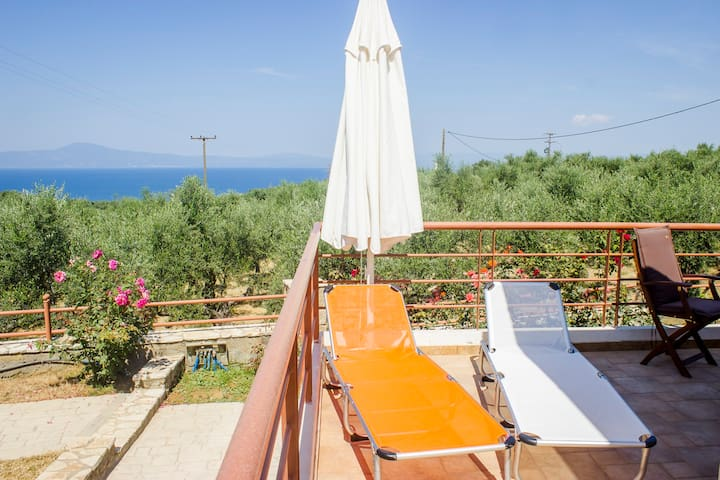 Home 1 Surrounded by Οlive trees with sea view