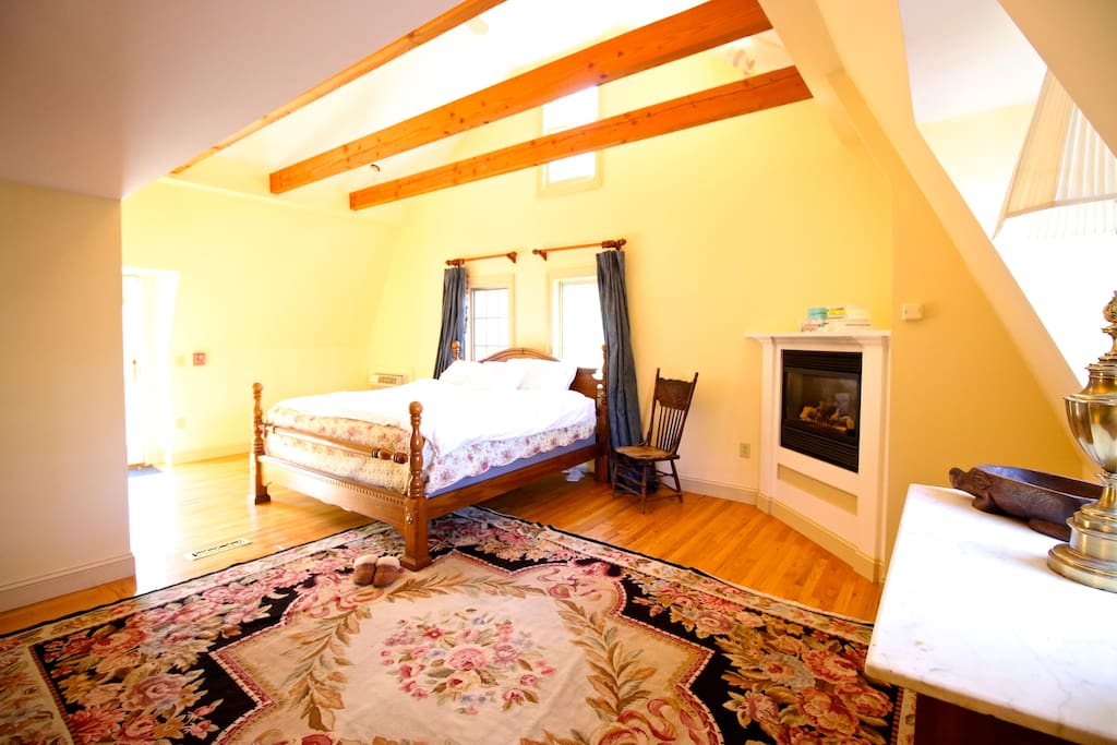 Bedroom #1 - huge, king, with fireplace and spa bath.