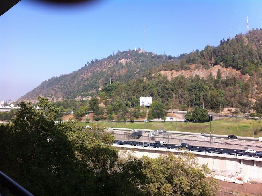 Hermosa vista al cerro San Cristóbal