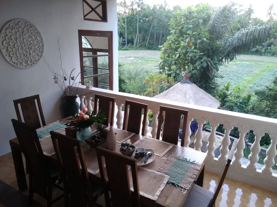 Dinner room on tropical view