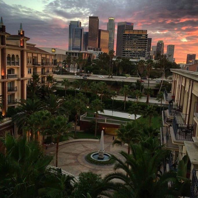 Enjoy California's sunsets.