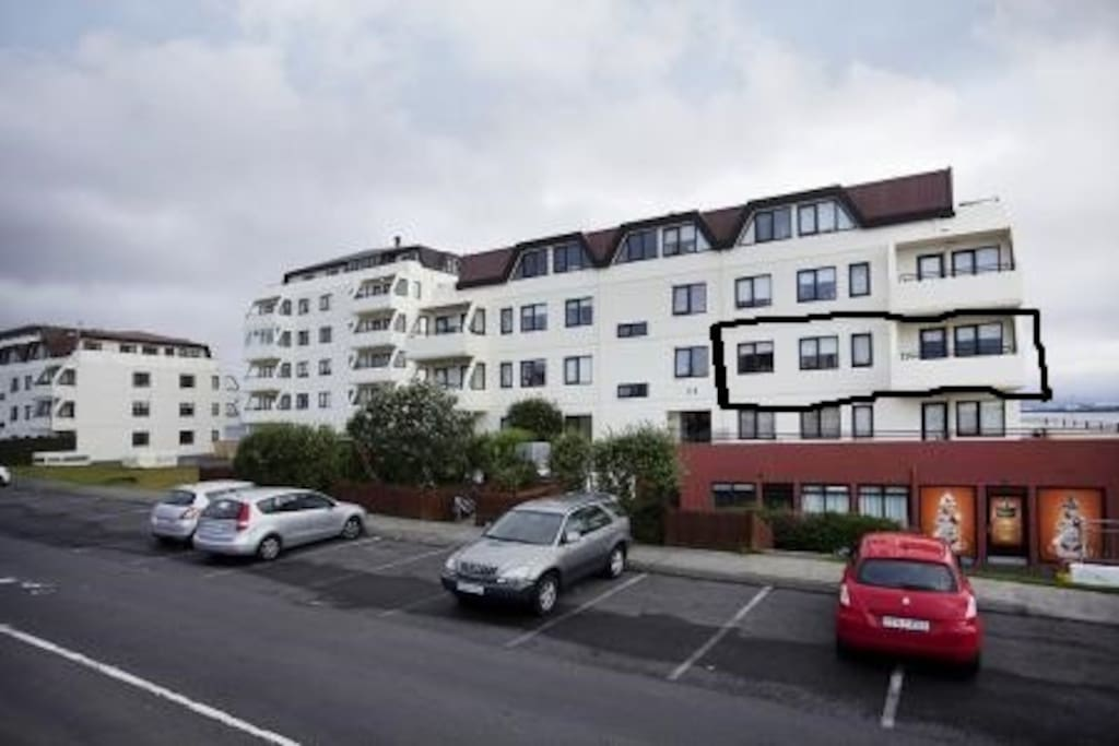 Apartment is on the 4 floor but only on second floor from the car parking in front of the house.