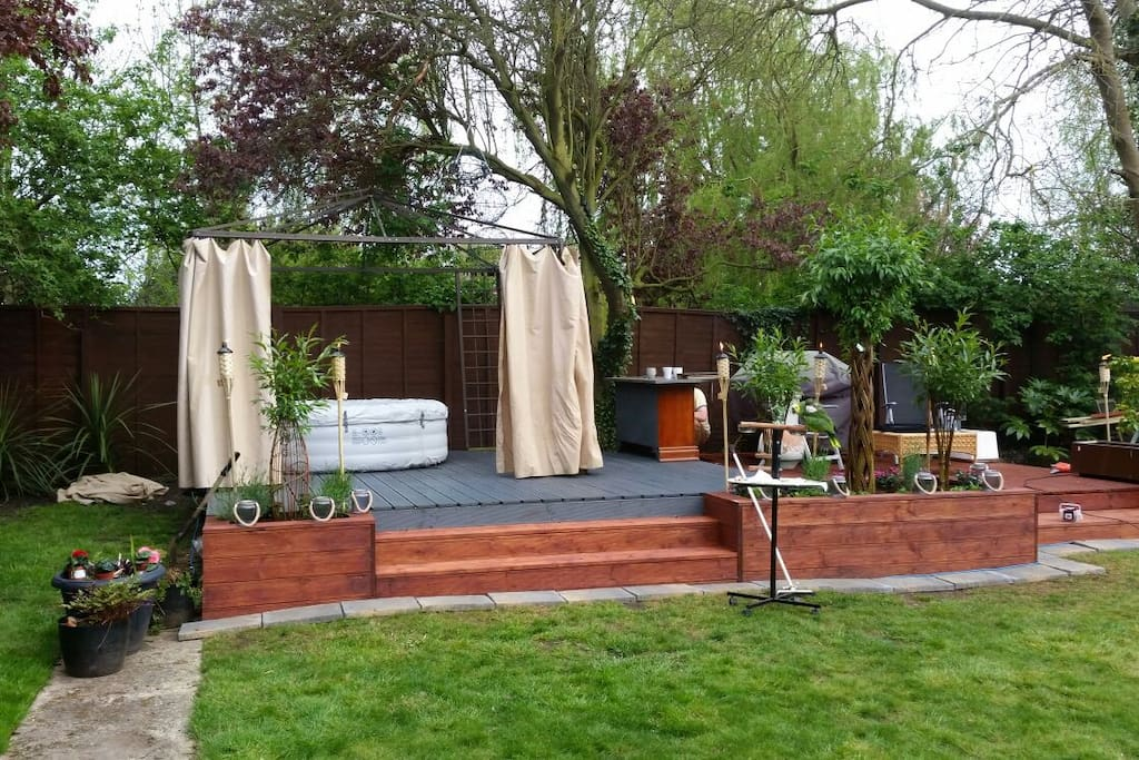 This is our lovely garden where you can relax