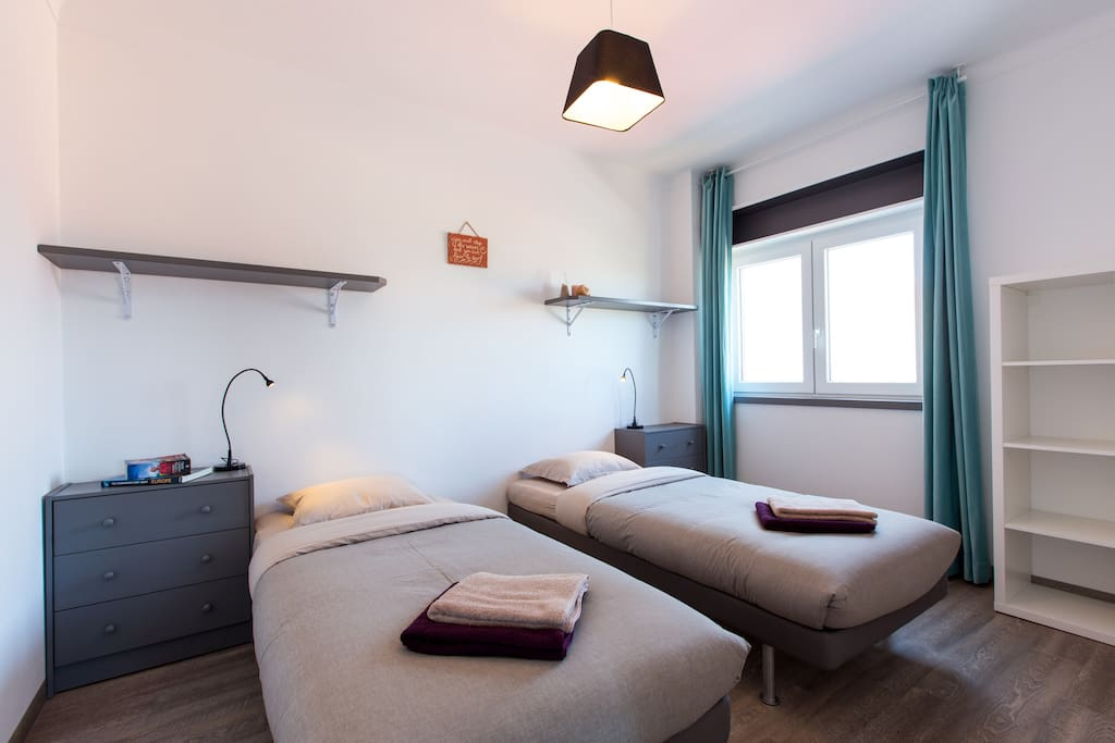 bright, large, twin & double bedroom, quality beds & mattresses