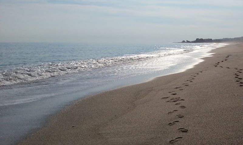 Our own beach 700 meters from the house.