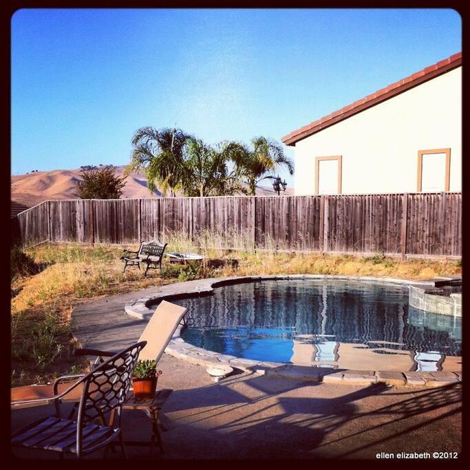 Swimming Pool in Springtime