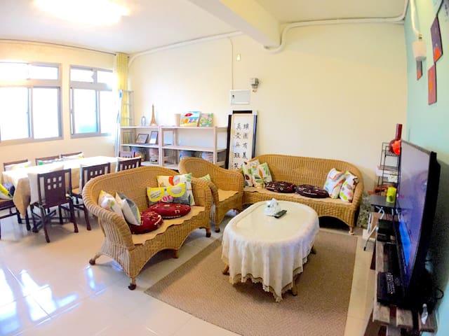 金山市區。1人-4人的住宿空間(單人旅遊的最佳選擇) - Jinshan District - Apartment