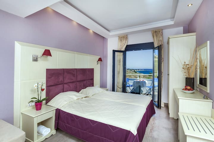 Superior Studio Purple Sea View, Frini studios - Plomari - Apartemen