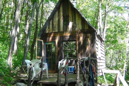 rustic cozy private woodland oasis - West Jefferson - กระท่อม