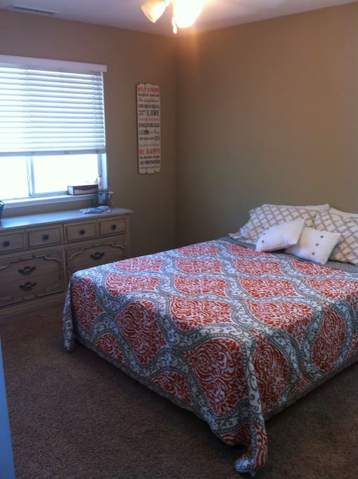 This is your guest room with queen bed