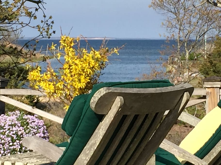 View of The Great Peconic Bay and Robins Island from the Deck