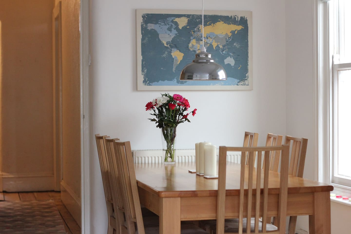 Dining area of the kitchen
