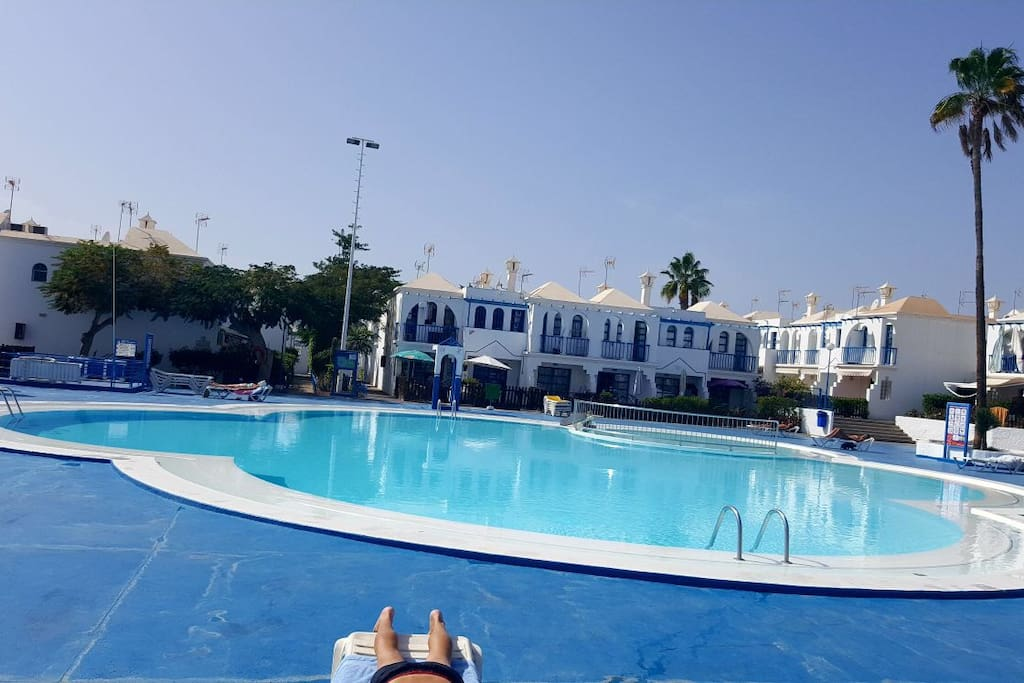 Relaxing Bungalow Wonderful Swimming Pool Bungalows For Rent In Maspalomas Canarias Spain