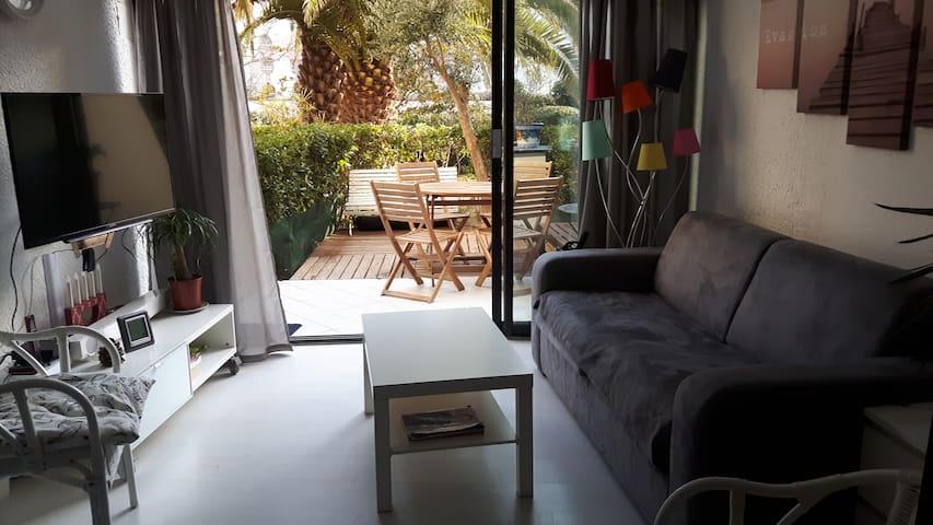 Bel appartement sympa 6pers 35m2 proche mer. Wi-Fi - La Grande-Motte - Apartamento
