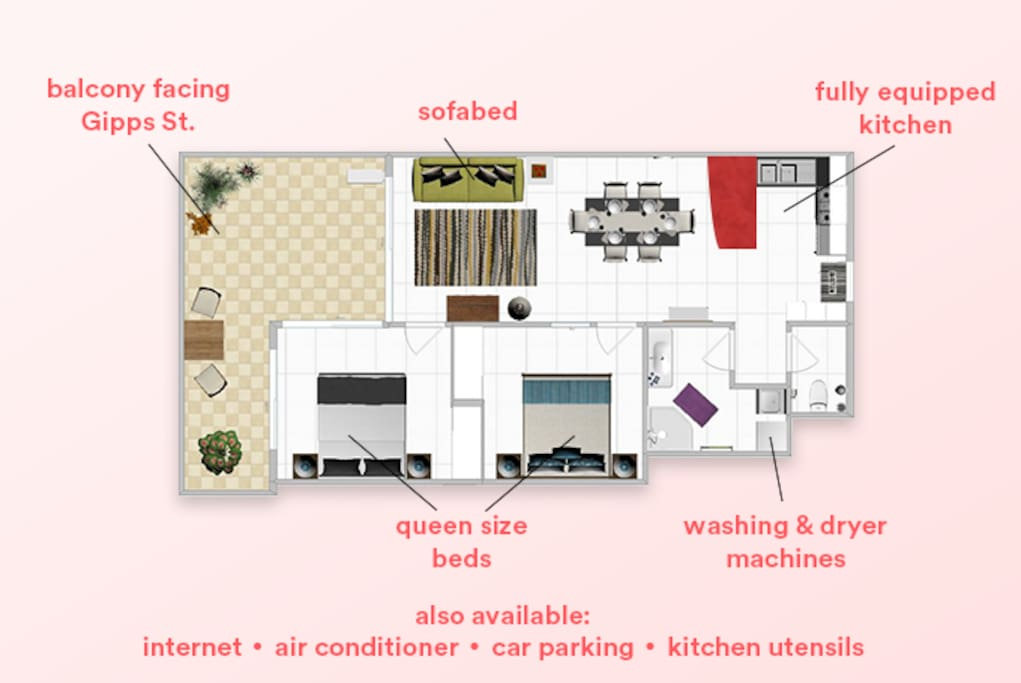 Floorplan with all the features