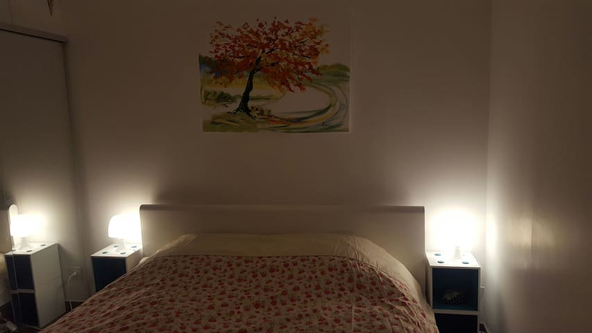 Chambre pour 2 personnes - La Tour-de-Salvagny - Appartement