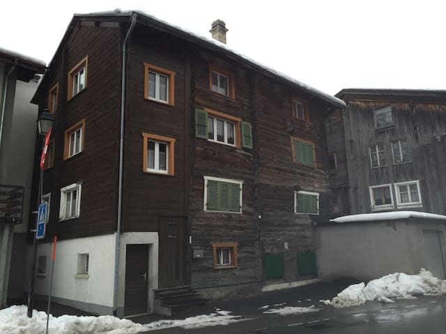 Old cosy simple wooden chalet apartment